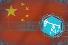 中国石油工业 油萃取概念 库存图片