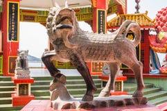 中国石狮子雕塑 库存照片