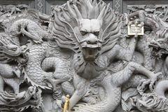中国石头雕刻 免版税图库摄影