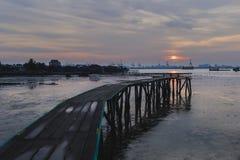 中国码头氏族跳船槟榔岛,马来西亚 库存照片