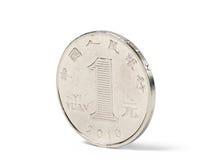 中国硬币一元 免版税库存图片
