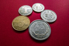 中国硬币 免版税库存图片