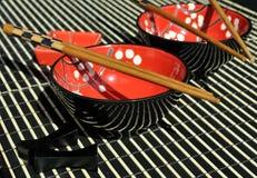 中国碗筷 免版税库存照片