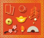 中国礼品新年度 库存例证