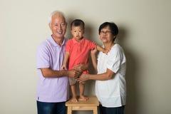 中国祖父母画象  免版税库存照片