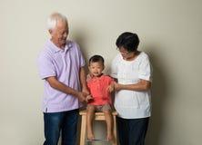 中国祖父母画象  免版税库存图片
