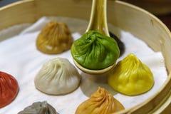 中国粤式点心- Xiaolongbao 库存图片