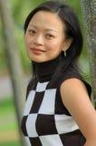 中国纵向妇女 免版税库存照片
