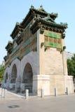 中国绿色曲拱在北京 库存图片