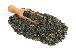 中国绿色茶叶 免版税图库摄影
