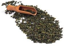 中国绿色茶叶 免版税库存图片