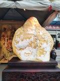 中国美丽的玉装饰石陈设品艺术作品 免版税库存照片