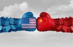 中国美国贸易挑战 向量例证