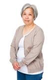 中国老妇人 免版税库存照片