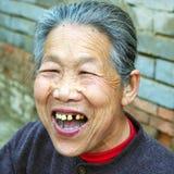 中国老妇人 免版税库存图片