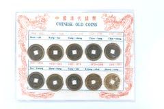 中国老硬币 库存图片