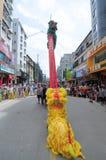 中国舞狮 库存图片