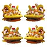 中国舞狮头 库存照片