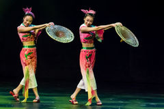 中国舞蹈演员。 珠海韩Sheng艺术马戏团。 免版税库存照片