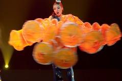 中国舞蹈演员伙计女孩 库存照片