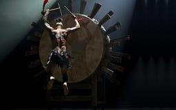 中国舞蹈演员国民 库存图片