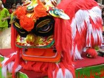 中国舞蹈演员狮子 库存照片