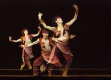 中国舞蹈演员蒙古语 库存照片
