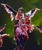 中国舞蹈演员uigur 免版税图库摄影