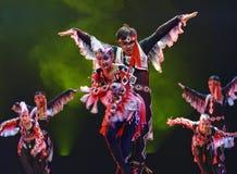 中国舞蹈演员uigur 库存照片