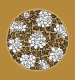 中国花卉装饰 免版税库存照片
