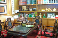 中国茶商店 免版税库存图片