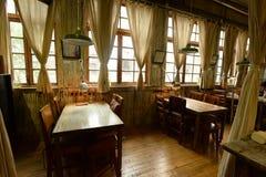 中国茶屋的内部 免版税图库摄影