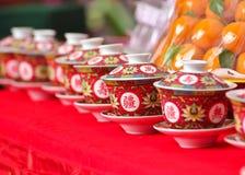 中国茶杯 免版税库存图片