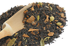中国茶用豆蔻果实 库存图片