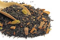 中国茶用豆蔻果实 免版税库存照片