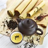 中国茶秘密  库存图片