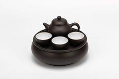 中国茶罐集 免版税库存图片