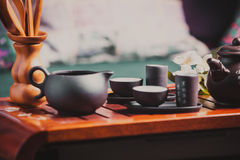 中国茶道 库存照片