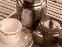 中国茶preperation 免版税库存图片
