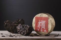 黑中国茶puer 免版税库存照片