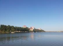 中国葫芦岛市, HongLuoshan自然储备湖 免版税库存照片