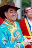 中国蒙古年长人 免版税库存图片