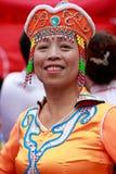 中国蒙古年长妇女 库存图片