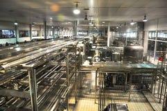 中国蒙牛奶制品线 库存照片