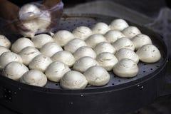 中国蒸汽面包 免版税库存照片