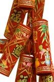 中国薄脆饼干火 库存图片