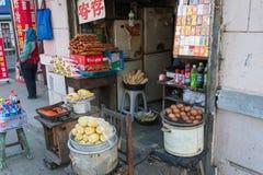 中国街道食物 免版税库存图片