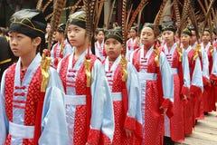 中国衣裳 免版税图库摄影