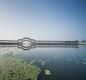 中国被遮盖的桥 库存照片