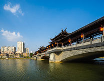 中国被遮盖的桥 图库摄影